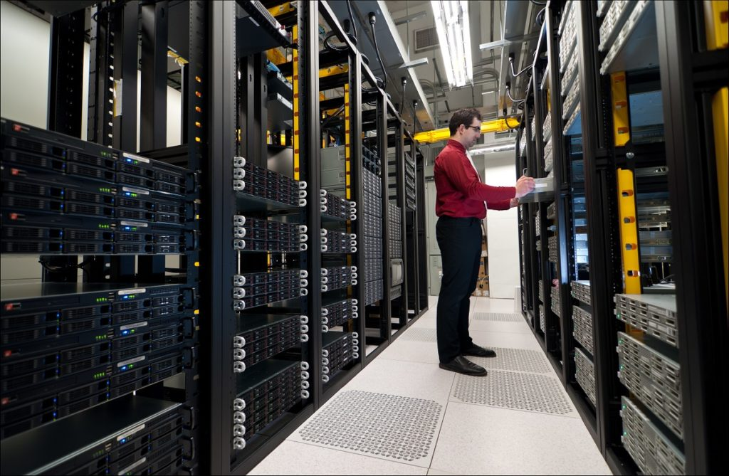 network administrator in the server room