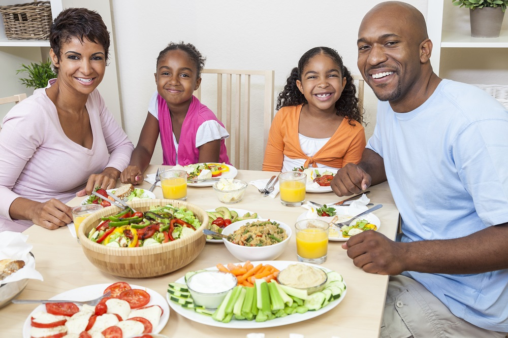family eating healthy meals